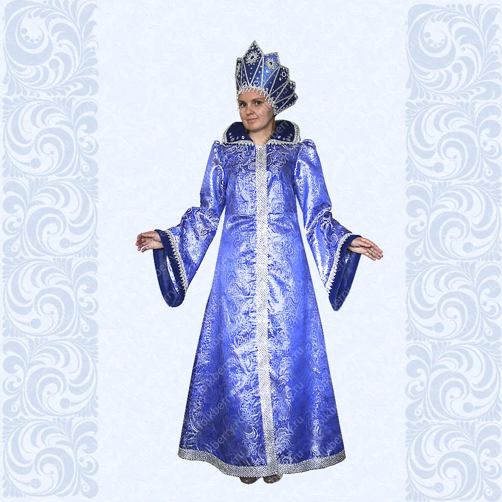 Карнавальный костюм Зимушки, Снежной Королевы, Снегурочки, №10-1- фото 1