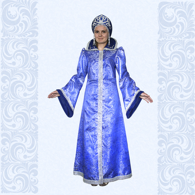 Карнавальный костюм Зимушки, Снежной Королевы, Снегурочки, №10-2- фото 1