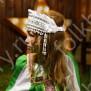 Девичья повязка Ладушка (очелье), белый в серебре - фото 2