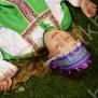 Девичья повязка Ладушка (очелье), фиолетовый в серебре - фото 2