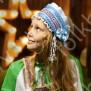 Девичья повязка Ладушка (очелье), голубой в серебре - фото 2