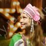 Девичья повязка Ладушка (очелье), розовый в серебре - фото 2