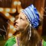 Девичья повязка Ладушка (очелье), синий в серебре - фото 2