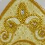 Кокошник Дея, золотистый - фото 3