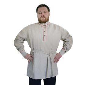 Рубаха Казачья, лен, небеленый лен- фото 1
