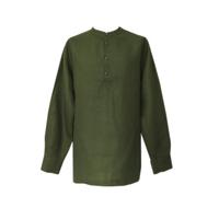 Рубаха Русский Стандарт, лен, темно-зеленый