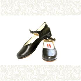 Туфли детские для народно-характерного танца, черные- фото 1