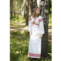 Платье Берегиня, лен, белое