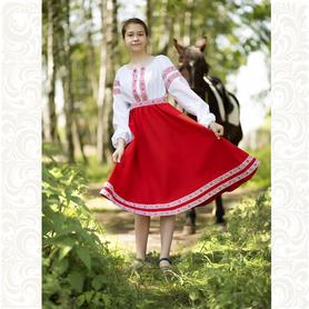 Платье Дмитра, габардин, красное- фото 1