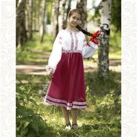 Платье Дмитра, габардин, бордовое