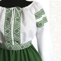 Платье Дмитра, габардин, зеленое