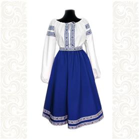Платье Дмитра, габардин, синее- фото 1