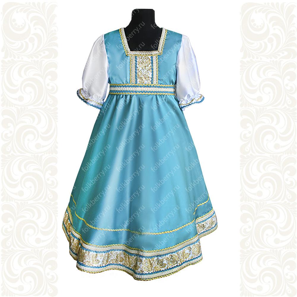 Платье Галина, атлас-стрейч, бирюзовое- фото 1