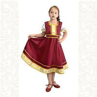 Платье Галина, атлас-стрейч, бордовое