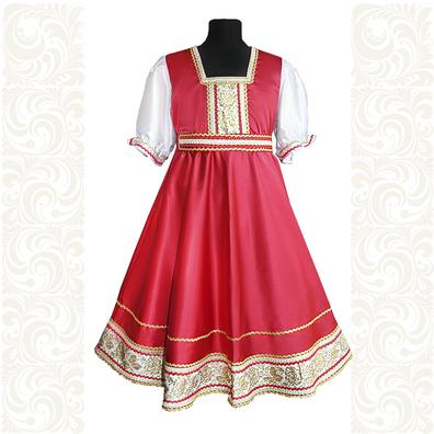 Платье Галина, атлас-стрейч, красное- фото 1