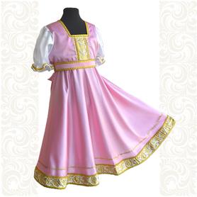 Платье Галина, атлас-стрейч, розовое- фото 1