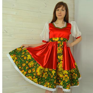 Платье Кадриль, атлас-стрейч- фото 1