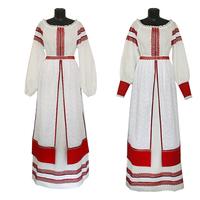 Комплект Торжественный день, лен, платье + юбка-понева