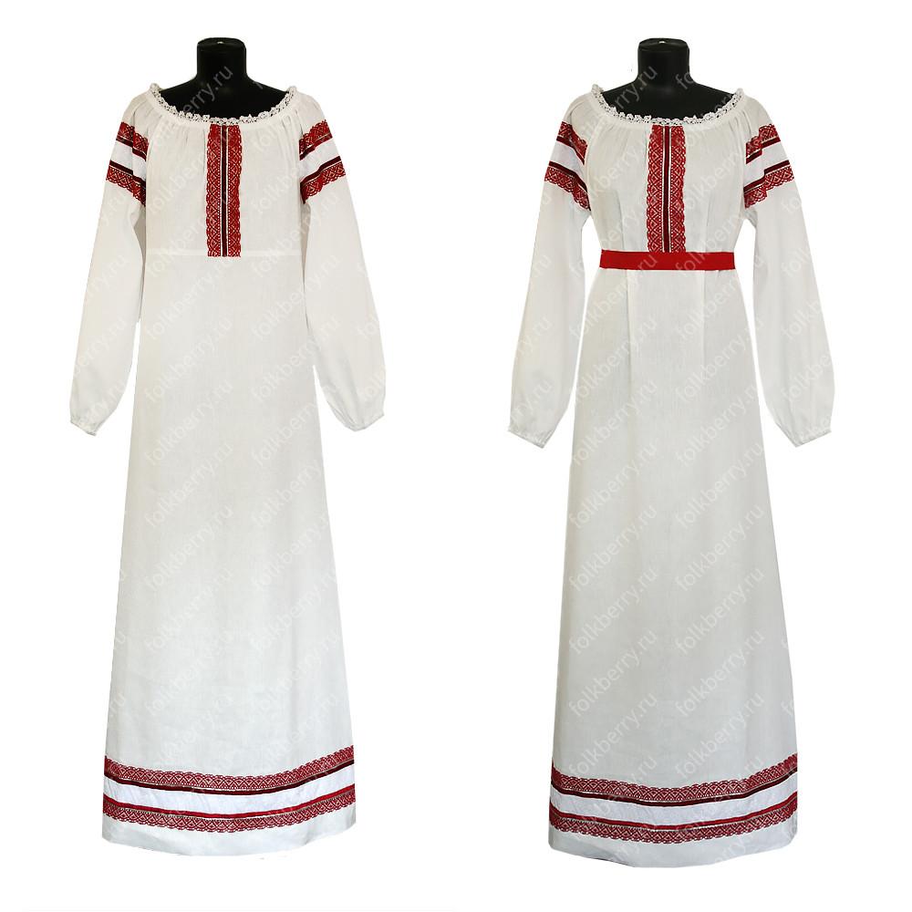 Платье Белая птица, лен- фото 1
