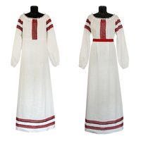 Платье лен, Белая птица