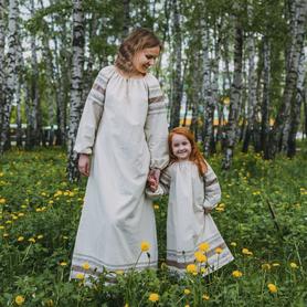 Платье Вологда, лен- фото 1