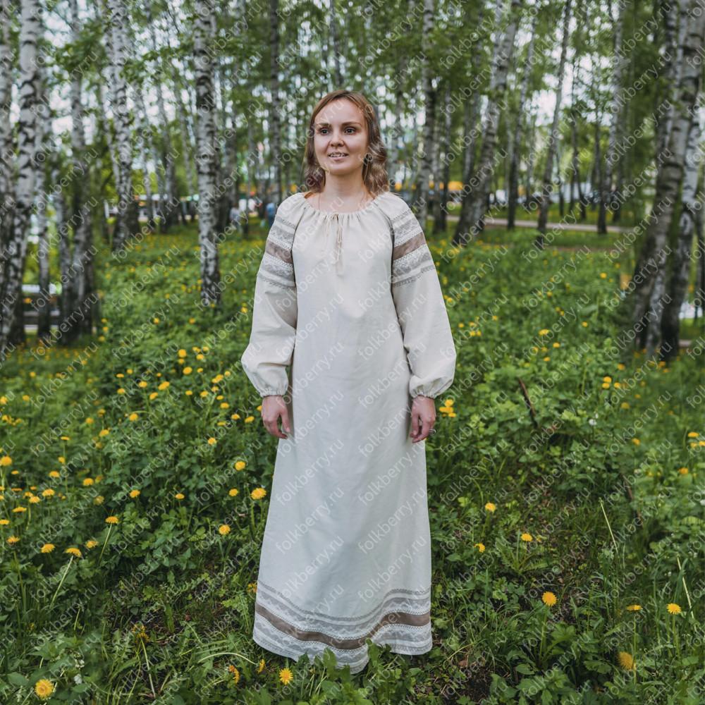 Платье Вологда, лен, женское- фото 1