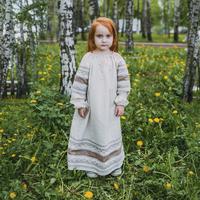 Платье Вологда, лен, для девочек