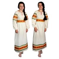 Платье Полюшко, лен, небеленый лен