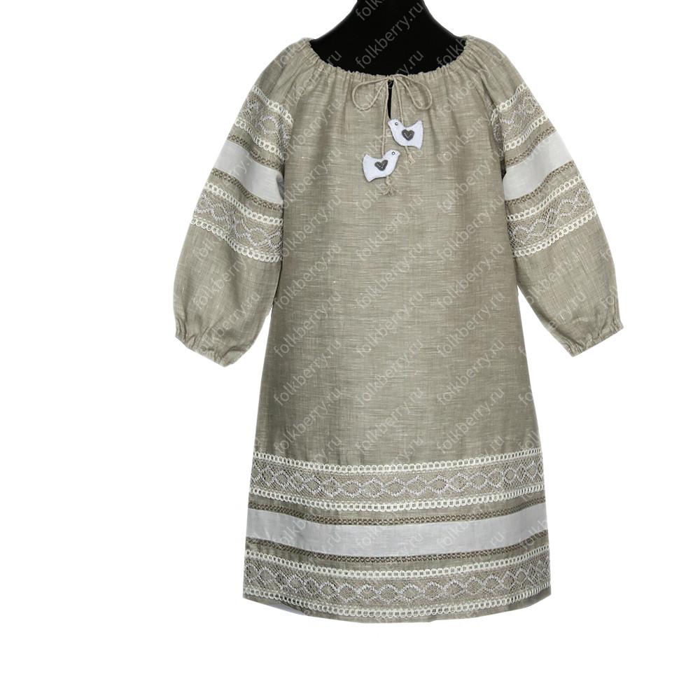 Платье Верея, лен- фото 1