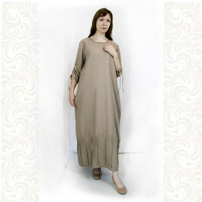 Платье Домна, лен- фото 1