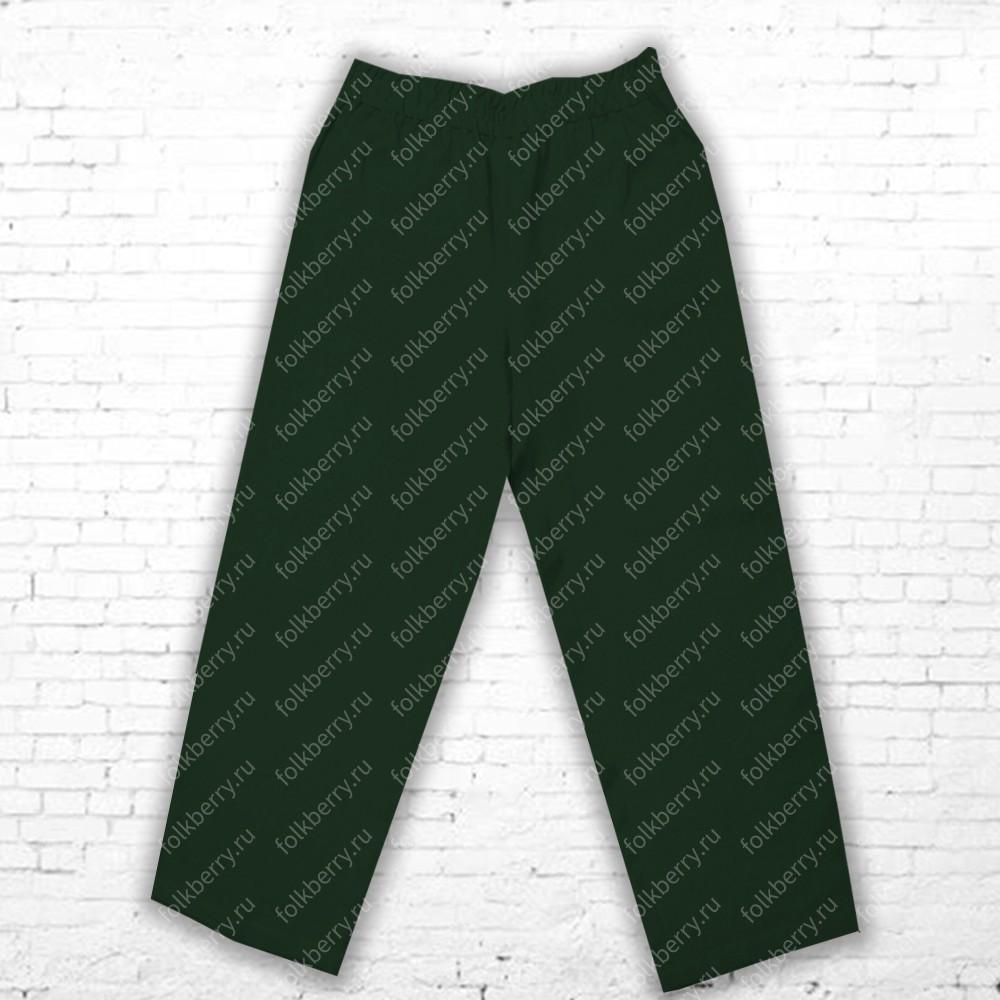Порты (габардин) для мужчин, темно-зеленый (бутылочный)- фото 1
