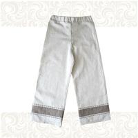 Порты (лен), для мальчиков небеленый лен с вышивкой