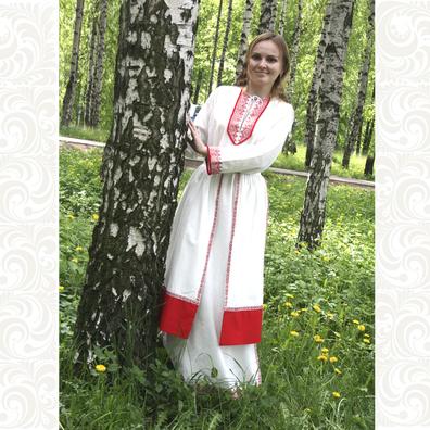 Рубаха Белогорье с юбкой поневой- фото 1