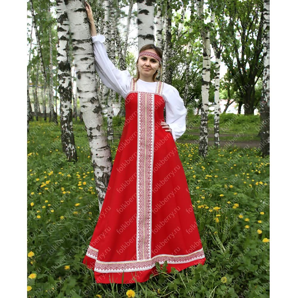 Сарафан с блузой Красна Девица, габардин- фото 1