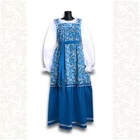 Сарафан с блузой Дуняша, хлопок, синий
