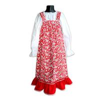 Сарафан с блузой Дуняша, хлопок, для девочек красный