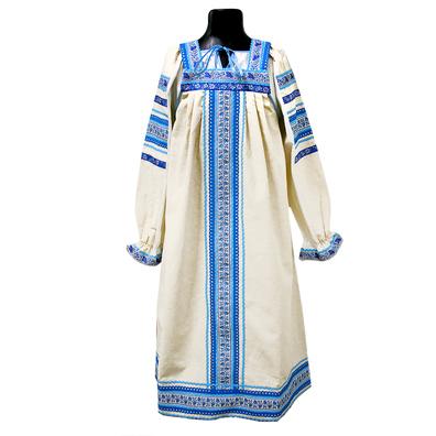 Сарафан с блузой Голуба, лен- фото 1