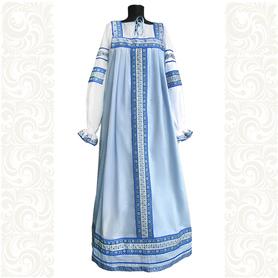 Сарафан с блузой Голубые мотивы, хлопок- фото 1