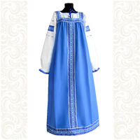 Сарафан с блузой Голубые узоры, хлопок, для девочек