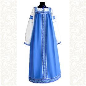 Сарафан с блузой Голубые узоры, хлопок- фото 1